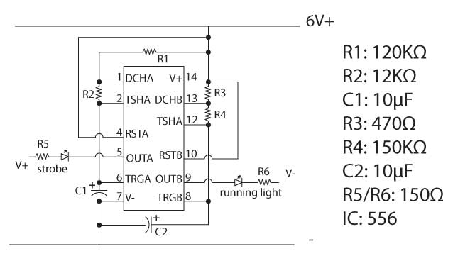 the running lights  navigation strobe circuit  u2013 virtualight