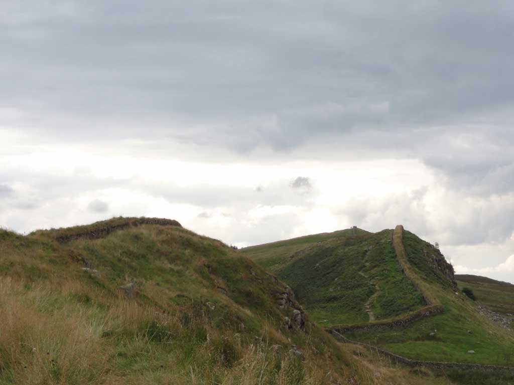 Hadrian's Wall in Northumberland near Housesteads Roman Fort
