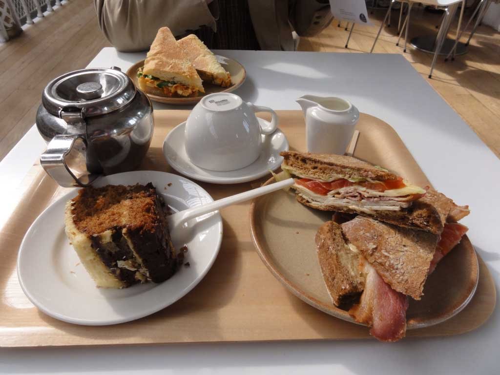 Lunch at the Balcony Café in the National Museum of Scotland